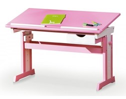 CECILIA biurko różowo - białe