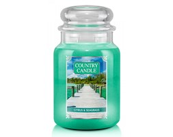 Country Candle - Citrus & Seagrass - Duży słoik (652g) 2 knoty