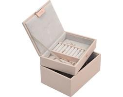 Pudełko na biżuterię podwójne mini Stackers jasnoróżowe