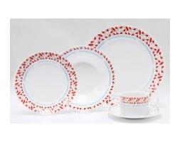 Zastawa, Serwis obiadowy 4os. Czerwona Mozaika z porcelany
