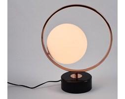 MCODO :: Minimalistyczna lampa stołowa Bella w kolorze miedzi z marmurową podstawą II gatunek