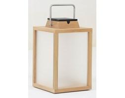 TINKA TRADITION-Lampa zewnętrzna LED akumulatorowa i solarna Drewno/Stal nierdzewna Wys.40cm