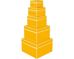 Pudełka prezentowe Die Kante 5 szt. żółte