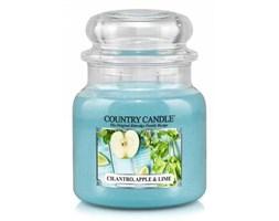 Country Candle - Cilantro, Apple Lime - Średni słoik (453g) 2 knoty kod: 846853054896