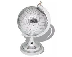 vidaXL Globus z podstawką, aluminium, srebrny, 35 cm