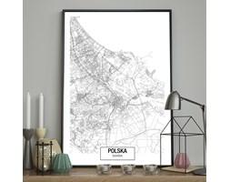 DecoKing - Plakat ścienny – Map – Gdańsk