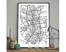 DecoKing - Plakat ścienny – Map – Łódź