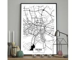 DecoKing - Plakat ścienny – Map – Lublin