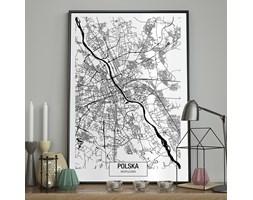 DecoKing - Plakat ścienny – Map – Warszawa