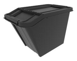 Pojemnik Pro box pochyły, 58l z recyklingu Plast-Team