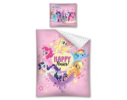 Pościel bawełniana 160x200 Kucyki Pony Happy Ponies