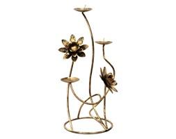 Świecznik z kwiatami na 3 świeczki - Kapelańczyk
