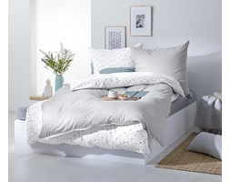Pościel dwustronna z dżerseju w kropki, na 2 poduszki: po ok.90 x 70 cm, na 1 kołdrę: ok. 160 x 200 cm