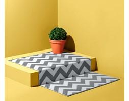 Dwustronny dywan zewnętrzny z geometrycznym wzorem