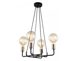 BETTY żyrandol 4 x 40W E27 lampa wisząca nowoczesna prosty design czarna ITALUX MDM-3901/4 BK+BRO