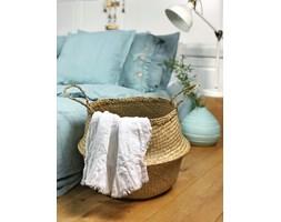 Lniany ręcznik z falbanką