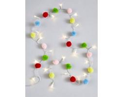 Łańcuch z lampkami LED Pompony