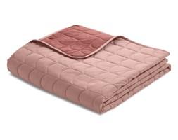 Narzuta na łóżko dwustronna, pikowana, WIŚNIA ,100% bawełna 230x130