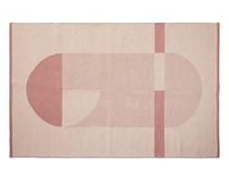 Pled na podłogę, bawełniany, ręcznie wylatany, 180x120cm, pudrowy róz