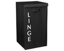 Składany kosz materiałowy na pranie LINGE, czarny pojemnik na brudną bieliznę, 82 L