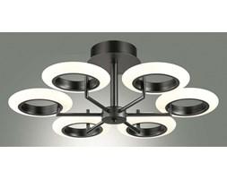 Sufitowa Oprawa Oświatleniowa FERRARA Plafon Sześć Czarnych Pierścieni LED Lampa Minimalistyczna