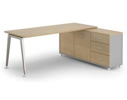 Stół Alfa z szafką 1800 x 800 mm prawy, brzoza
