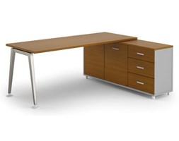 Stół Alfa z szafką 1800 x 800 mm prawy, czereśnia