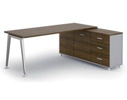 Stół Alfa z szafką 1800 x 800 mm prawy, orzech