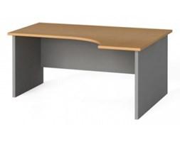 Stół biurowy ergonomiczny 160x120 cm, buk, prawy