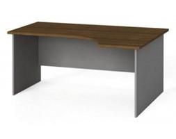 Stół biurowy ergonomiczny 160x120 cm, orzech, prawy