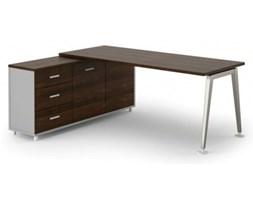 Stół Alfa z szafką 1800 x 800 mm lewy, wenge