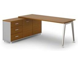 Stół Alfa z szafką 1800 x 800 mm lewy, czereśnia