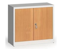 Szafy spawane z laminowanymi drzwiami, 800 x 920 x 400 mm, RAL 7035/buk