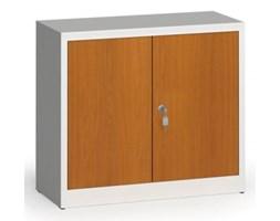 Szafy spawane z laminowanymi drzwiami, 800 x 920 x 400 mm, RAL 7035/czereśnia