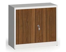 Szafy spawane z laminowanymi drzwiami, 800 x 920 x 400 mm, RAL 7035/orzech