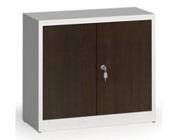 Szafy spawane z laminowanymi drzwiami, 800 x 920 x 400 mm, RAL 7035/wenge