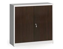 Szafy spawane z laminowanymi drzwiami, 1150 x 1200 x 400 mm, RAL 7035/wenge
