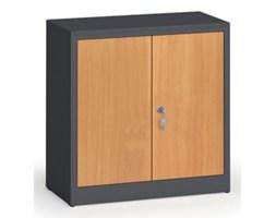 Szafy spawane z laminowanymi drzwiami, 800 x 800 x 400 mm, RAL 7016/buk