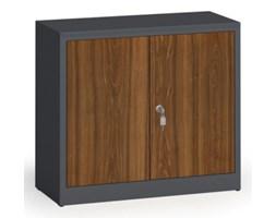 Szafy spawane z laminowanymi drzwiami, 800 x 920 x 400 mm, RAL 7016/orzech