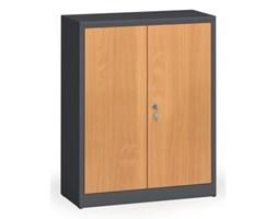 Szafy spawane z laminowanymi drzwiami, 1150 x 920 x 400 mm, RAL 7016/buk