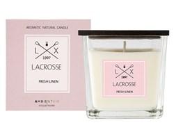 Świeca zapachowa FRESH LINEN 8x8 cm - Lacrosse  - DECOSALON - 100% zadowolonych klientów!