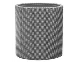 Keter Small Cylinder Planter srebrna