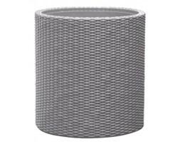 Keter Medium Cylinder Planter srebrna