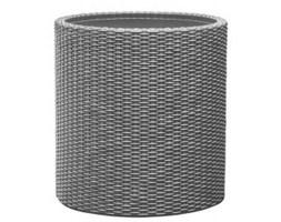 Keter Large Cylinder Planter srebrna