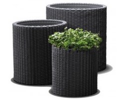 Keter S+M+L Cylinder Planters antracytowa