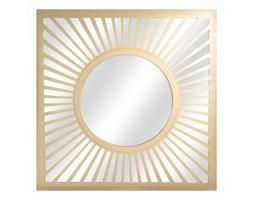 LUSTRO CLEO w złotej ramie kwadrat 85X85
