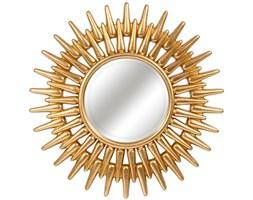 LUSTRO RE złote w ramie okrągłe FI 92