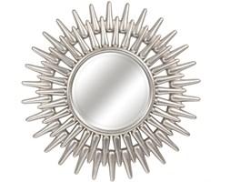 LUSTRO RE w srebrnej ramie okrągłe FI 92