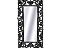 LUSTRO Designerskie APOLLO w czarnej ramie błyszczące w stylu Glamour prostokąt 92X167