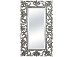 LUSTRO Designerskie APOLLO w srebrnej ramie w stylu Glamour prostokąt 92X167